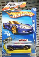 Hot Wheels 2010 #133 C6 Corvette BLUE,KEYS TO SPEED,W/ KEYCHAIN,IMAGE #2,FTE,US