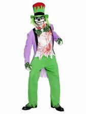 Mens Halloween Mad Bad Hatter Alice Wonderland Tea Party Fancy Dress Costume Fun