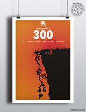 300 - Minimalist Movie Poster by Posteritty Minimal Print Gerard Butler Sparta