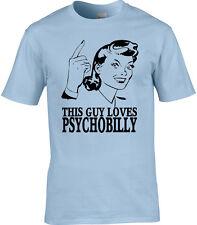 Psychobilly Hombre Camiseta Rock and Roll país Punk Rockabilly Idea Regalo Divertido