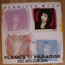 """JENNIFER RUSH & ELTON JOHN Flames Of Paradise 12""""-Maxi/DUTCH"""