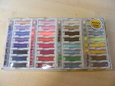 64 Piezas Color algodón / poliéster Máquina De Coser Hilo + Carretes Set