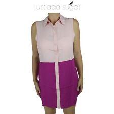 Womens Just Add Sugar Get Lifted Shirt Dress Button Collar Formal Sleeveless