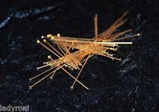 Flat head Copper stick T pins headpin Jewelry finding 50mm 2mm head