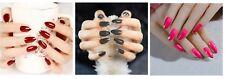 False Nails - Full Cover Active Length Stiletto Silver edged Fake Artificial Nai