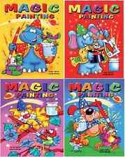 Set di 4 x A5 MAGIC pittura libri da colorare per bambini nessun pasticcio Craft serie 910