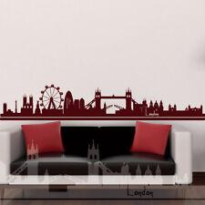 Wandtattoo Wandaufkleber Skyline Stadt London England capital town britain +345+