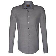 Seidensticker Herren Langarm Hemd UNO Super Slim grau strukturiert 675316.37
