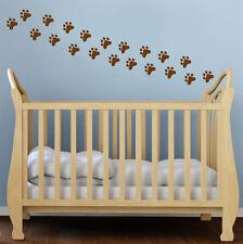 24 X Huella De Animal Perro Pegatinas de Pared Niños Guardería Niños Habitación calcomanías UK