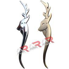 """AAR Highland Stag Head Swirl Kilt Pin Antique/Chrome Finish 4.5""""/Kilt Accessory"""