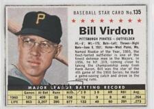 1961 Post Cereal #135 Bill Virdon Pittsburgh Pirates Baseball Card