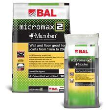 BAL Micromax2 Anti Mould/Bacteria Rapid Set Tile Grout For Walls/Floors 5Kg/10kg