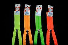 fermeture éclair 50 cm séparable Z54 coloris fluo au choix  plastique moulée