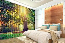 3D Sun Tree 45 Blockout Photo Rideau impression Rideaux Rideaux Tissu fenêtre UK