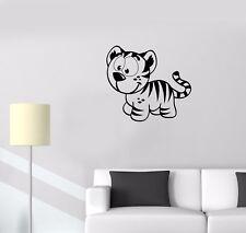 Wall Decal Baby Room Toy Tiger Babe Kids Children Vinyl Sticker (ed752)