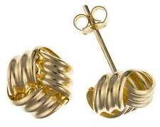 In oro 9 carati Giallo ROSE 3 COLORI 6mm WOOLMARK Knot BALL Orecchini SCATOLA REGALO