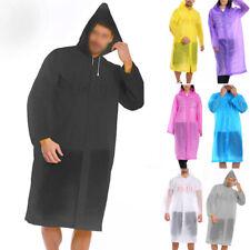 1Pc Adult Raincoat Waterproof Jacket Hooded Rain Coat EVA Poncho for Mens Women