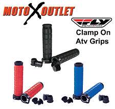 Fly Racing Clamp On Atv Hand Grips Handlebar Thumb Throttle Quad Grip Lock BMX