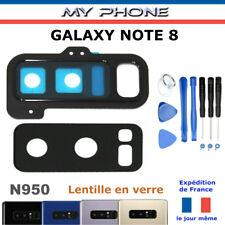 Vitre Cache Caméra Samsung GALAXY NOTE 8 NOIR + Adhésif  Lentille verre SM-N950F