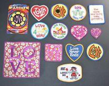 Love Embroidered Vintage Iron-on Hippie Boho Patch Jacket Vest Backpack Jeans