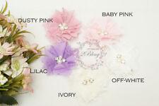 3 Chiffon Square LACE FABRIC Flower DIY baby headband craft supply