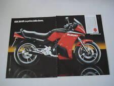 advertising Pubblicità 1986 MOTO SUZUKI GSX 550 EF
