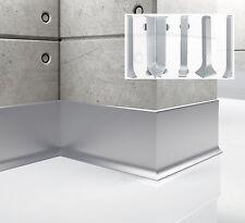 Aluminium skirting board - 2,5 meter length - anodised aluminium