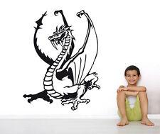 Wandaufkleber: Drache - Dragon Kinderzimmer Ritter Fantasy Deko Junge WandTattoo