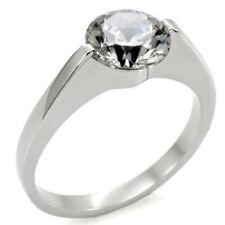 K012 Solitario Fidanzamento Diamante simulato 316L in acciaio ad alta lucidato Anello da donna