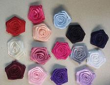 Posamenten Stoffrosen Satin Rosen 6 cm Durchmesser verschiedene Farben