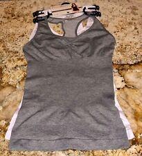 CARRIE AMBER Racer Back Shapewear Tank Top 2 Pk White Heathe Grey Womens L XL 2X