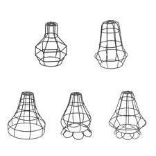 Vintage Industrial Metal Bird Cage Bulb Guard Pendant Lighting Fixture