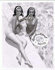 Thunderbird Hotel Casino Twin Showgirls In Pool 1950's