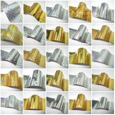 Nail Art Foil Wrap Transfer Glitter Sticker Polish Gold Silver 1 meter UK[24]