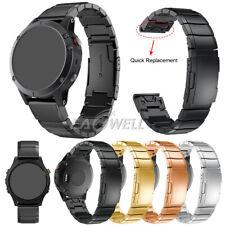 For Garmin Fenix 3/Fenix 5 5X/5S Plus Stainless Steel Watch Band Strap Bracelet