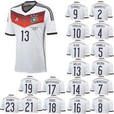 adidas DFB Deutschland Heimtrikot WM 2014 mit Spieler- und Endspielflock weiß