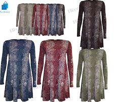 Womens Flared Swing Dress lot Long Sleeve SNAKE DRESS Party Evening wear 8-26