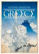 Family Guy Brian Angel Stewie Greek Sculptures Parody Greece Travel Poster Art