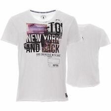 M.O.D T-Shirt Herren Freizeitshirt Print Baumwollshirt Sommer Used Weiß