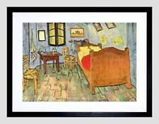 Van Gogh camera da letto Old Master BLACK FRAMED Art Print Picture b12x2260