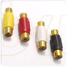 Conectores adaptadores RCA hembra a RCA hembra para AUDIO VIDEO e varios colores