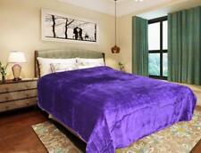 Luxury Double & King Size Super Soft Purple MINK FAUX FUR BLANKET Bed Sofa Throw