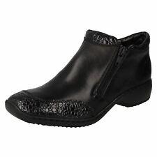 'Ladies Rieker'  Twin Zip Ankle Boots - L3862