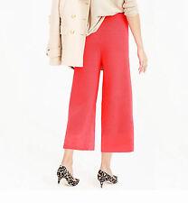 NWT £158 Designer J.CREW 100% Merino WOOL Wideleg Milano Double Knit PANTS  6-20