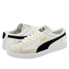 Men's Puma Basket 90680 White Leather Fashion Retro Trainers UK Sizes 6.5  - 11