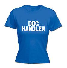 Dog Handler Chest And Back WOMENS T-SHIRT tee trainer uniform workwear walker