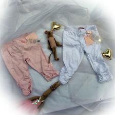 Blumarine Baby Designer Hose gerafft Legging rosa weiß Strass 92 98 104 NEU