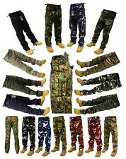 "Adults Mens Camo Plain Army Cargo Combat Trousers 28"" - 56"" Short Regular Long"