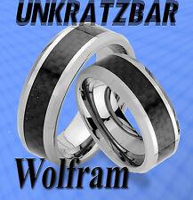 2 RINGE TRAURINGE mit CARBON LOOK , GRAVUR GRATIS ; WOLFRAM , UNKRATZBAR , JW6