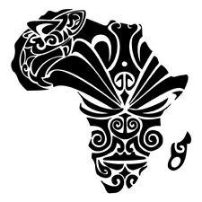 Kit 2 adesivi tuning MASCHERA AFRICA mask tribale decal